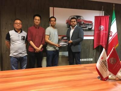 حضور مشاور اقتصادی و بازرگانی سفارت چین در شرکت مدیا موتورز